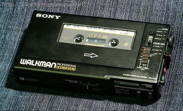 El walkman y las cintas de cassette