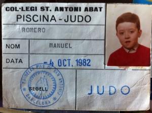 Esta es la prueba que me acredita como luchador de judo.