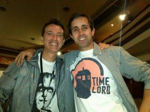 """Con Gerardo Santos Bocero, autor del indispensable libro """"Don Coscarelli. Phantasmas, momias y otras bestias""""."""